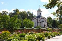 Capela do padre Vasily do celibato, monges Trophime e Ferapont no monastério de Optina Imagens de Stock