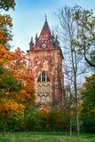 Capela do pavilhão na residência do parque da cidade Pushkin Autumn St Petersburg Russia do selo dos reis Tsarskoye Fotos de Stock Royalty Free