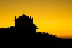 Capela do por do sol Imagens de Stock Royalty Free