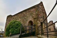 Capela do ` s de St Margaret, a construção a mais velha castelo em Edimburgo, Edimburgo imagem de stock royalty free