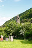 Capela do St. Kevin em Glendalough fotos de stock royalty free