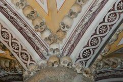 Capela dos ossos - Évora - Portugal imagem de stock