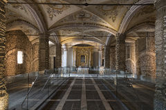 Capela DOS Ossos - Evora - Portugal royaltyfri bild