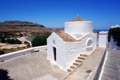 Capela em Lindos Imagem de Stock