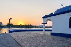 Capela Faliraki Rhodes Greece imagem de stock