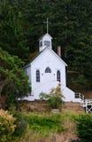 Capela histórica, San Juan Island, EUA Imagem de Stock