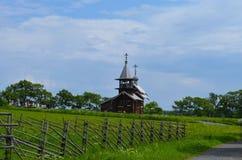 A capela Mihaila Arhangela da vila Lelikozero Ilha Carélia Rússia de Kizhi fotos de stock royalty free