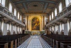 Capela na faculdade naval real velha em Greenwich Foto de Stock Royalty Free