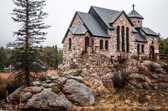 Capela na pedra Chruch - Estes Park da rocha Imagens de Stock