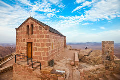 Capela no monte Sinai Fotografia de Stock Royalty Free