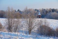 Capela no prado Foto de Stock