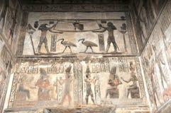 Capela no templo de Hathor Foto de Stock