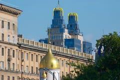 Capela. Novosibirsk. Fotografia de Stock