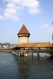 Capela-Ponte em Lucerne Foto de Stock Royalty Free