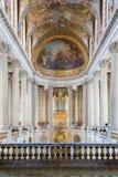 Capela real do palácio Versalhes perto de Paris, França Imagem de Stock Royalty Free