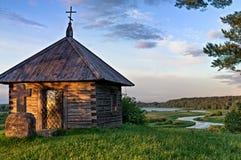 Capela velha no por do sol Foto de Stock Royalty Free