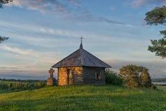 Capela velha no por do sol Imagens de Stock Royalty Free