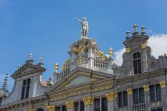 Capelas em Grand Place de Bruxelas em Bélgica Fotos de Stock