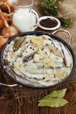 Capelin stewed in milk Royalty Free Stock Photography