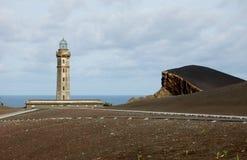 Capelinhos火山 免版税图库摄影