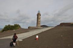 Capelinhos火山 库存照片