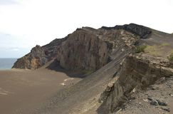 Capelinhos火山 免版税库存图片