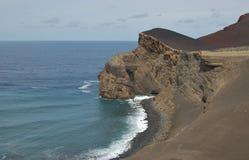Capelinhos火山 图库摄影