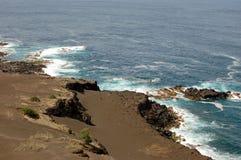 Capelinhos火山 免版税库存照片