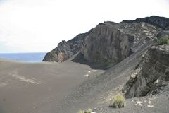 Capelinhos火山 库存图片