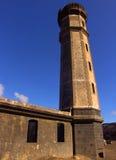 Capelinhos Leuchtturm stockbilder