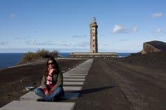 Capelinhos Lighthouse Royalty Free Stock Photos