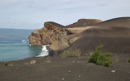 Capelinhos Volcano. Faial island,  Azores, Portugal Royalty Free Stock Photo