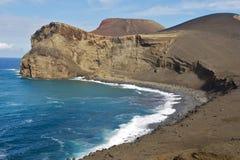 The capelinhos vulcano stock image