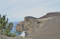 Capelinhos-Vulkan stockbild