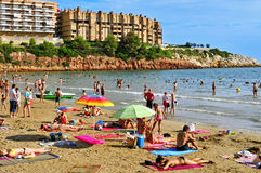 Capellans beach in Salou, Spain Stock Photography
