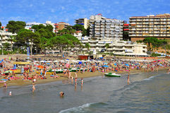 Capellans beach in Salou, Spain Royalty Free Stock Images