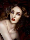 Capelli alla moda di signora 20s di Yong Fotografia Stock Libera da Diritti