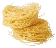 Capelli d`angelo, Angel`s hair - pasta. Homemade pasta. Italian Cuisine. Egg noodles. stock image