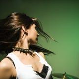 Capelli d'oscillazione della femmina. Fotografia Stock
