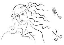 Capelli del Aphrodite royalty illustrazione gratis