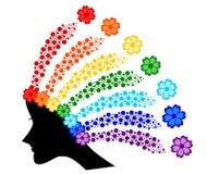 Capelli dell'arcobaleno Fotografie Stock
