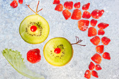 Capelli della fragola. Fotografie Stock Libere da Diritti