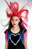 Capelli di colore del movimento della ragazza magnifici Immagini Stock Libere da Diritti