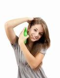 capelli di cura Immagine Stock
