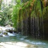 Capelli di Venere瀑布,奇伦托,意大利 免版税库存图片
