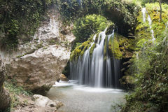 Capelli di Venere waterfall Royalty Free Stock Photography