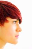 capelli femminili che disegnano ragazza facciale Fotografia Stock Libera da Diritti