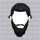 Capelli lunghi della barba dell'uomo dei pantaloni a vita bassa Immagini Stock Libere da Diritti