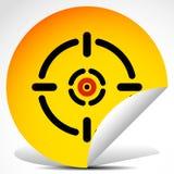 Capelli trasversali, segno dell'obiettivo sull'autoadesivo della sbucciatura illustrazione vettoriale