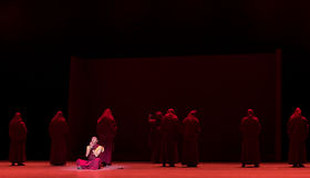 Capendo ` di Cangyangjiacuo di Buddha- del dramma di ballo `` Fotografie Stock